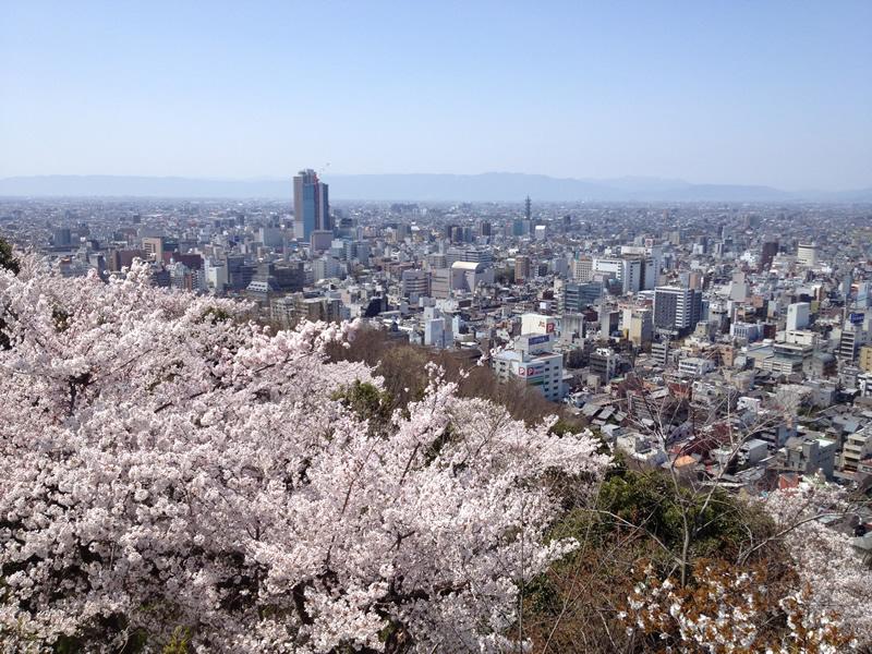 水道山展望台から眺める町
