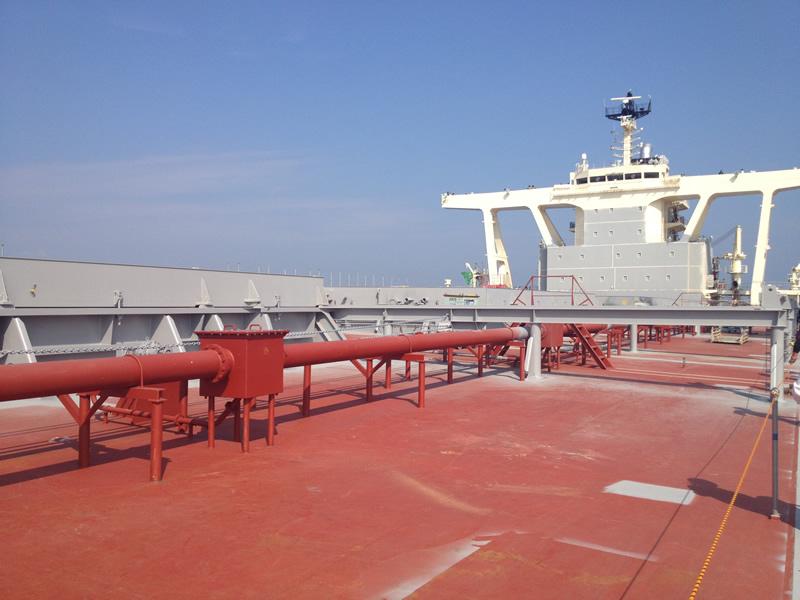 造船見学 甲板