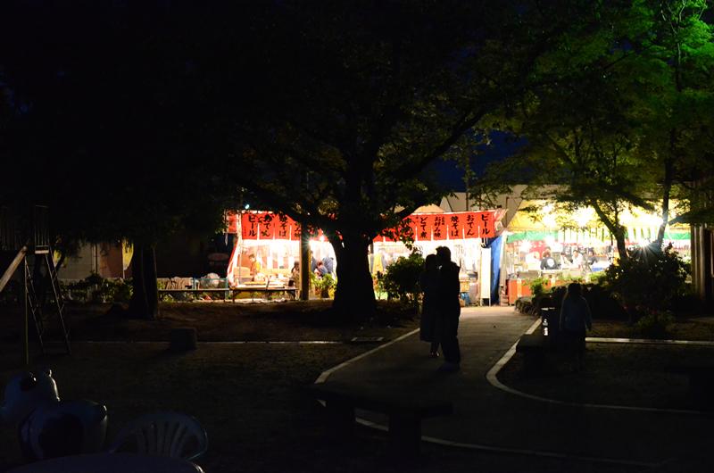 曼陀羅寺 藤祭り 夜の屋台