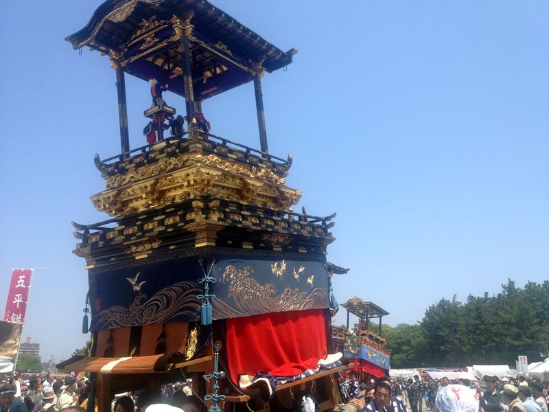 天王川公園 藤祭り出し物