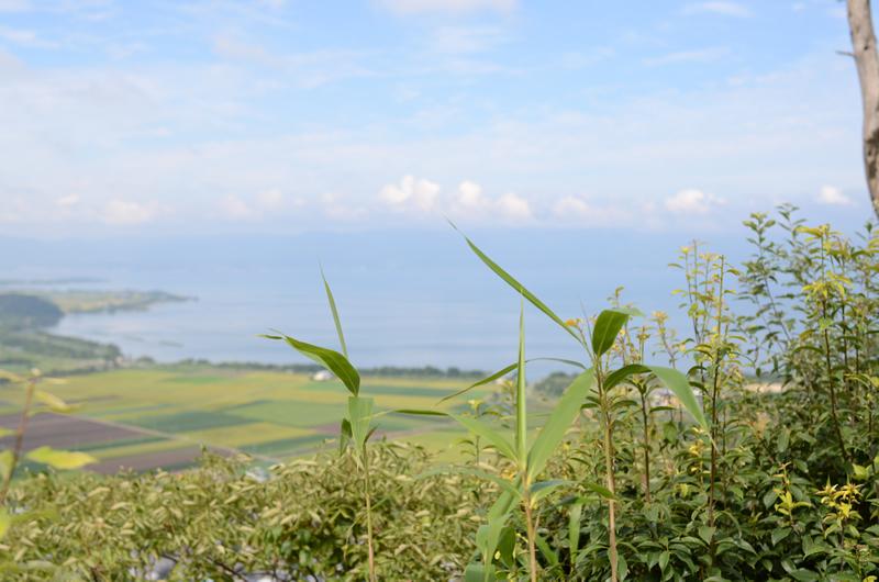 八幡山から琵琶湖を望む