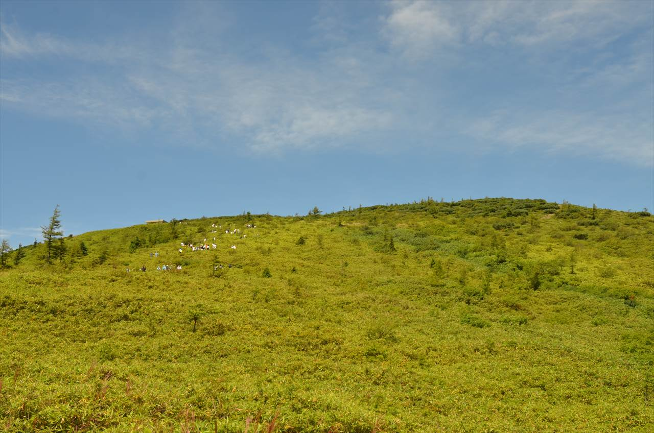 湯釜への登山路