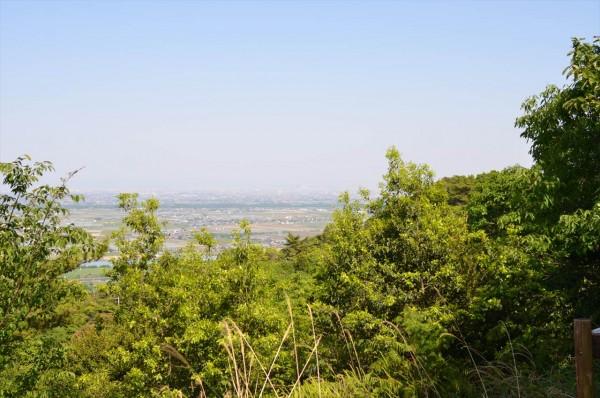 月見の森 最高地点展望台より名古屋方面