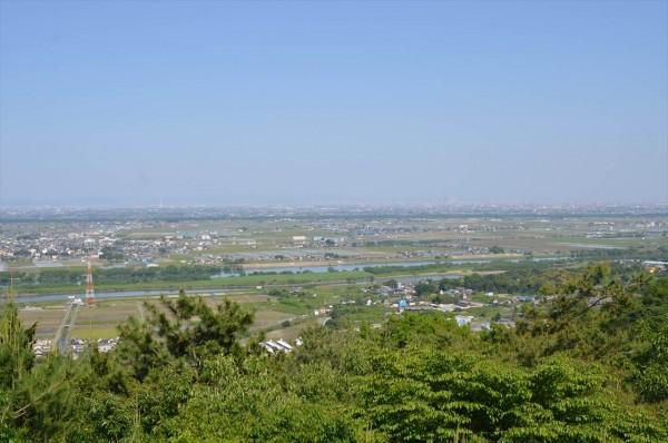 月見の森からの眺め 名古屋方面