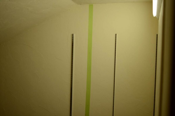 ロイヤル棚柱の取付